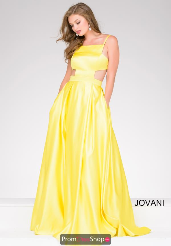 Jovani High Neckline A Line Dress 49921