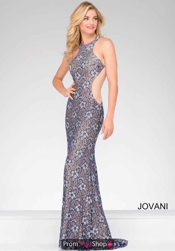 Jovani High Neckline Long Dress 49922