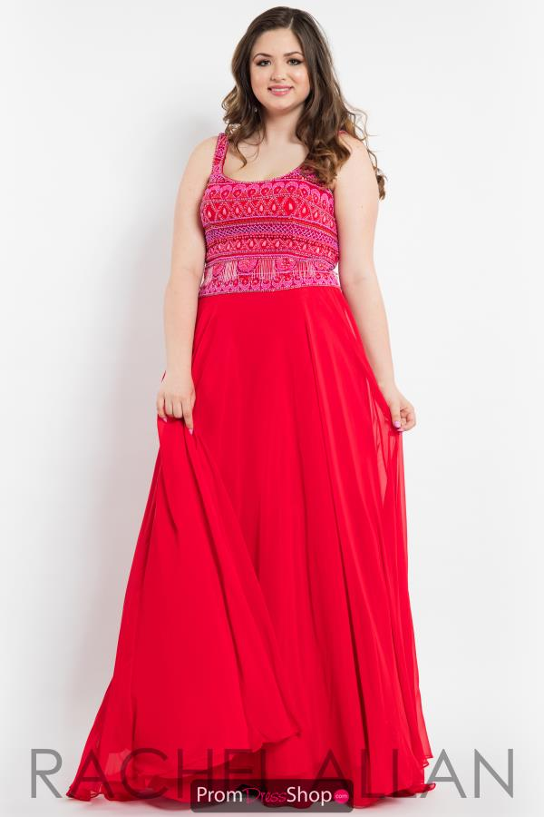 Rachel Allan Beaded Long Dress 7804