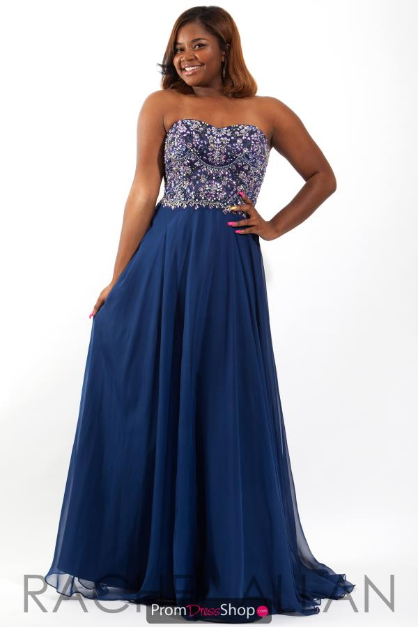 Rachel Allan Strapless A Line Dress 7826