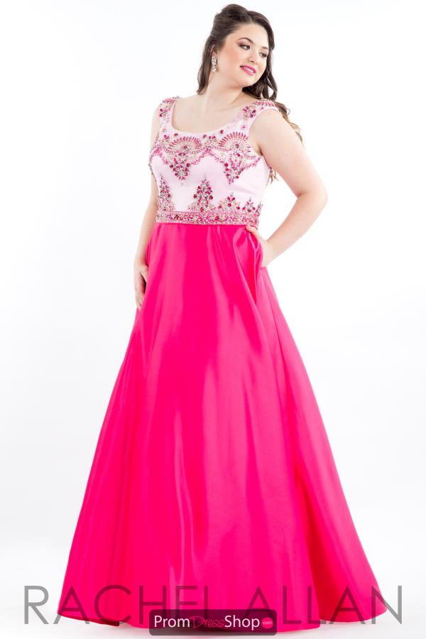 Rachel Allan Beaded Long Dress 7849