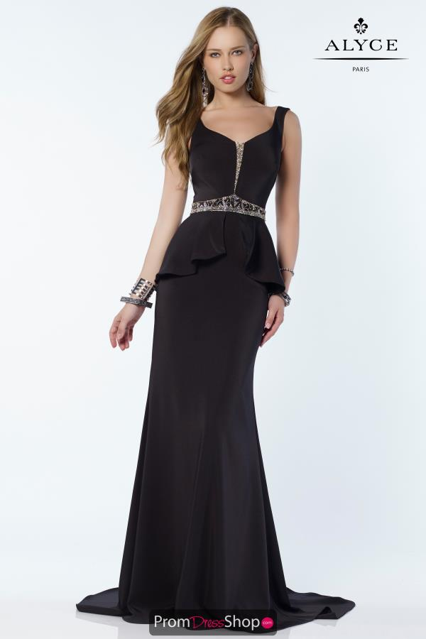 Alyce Paris Fitted Long Dress 2613