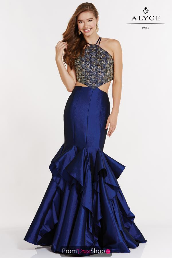 Alyce Paris Mermaid Beaded Dress 2618