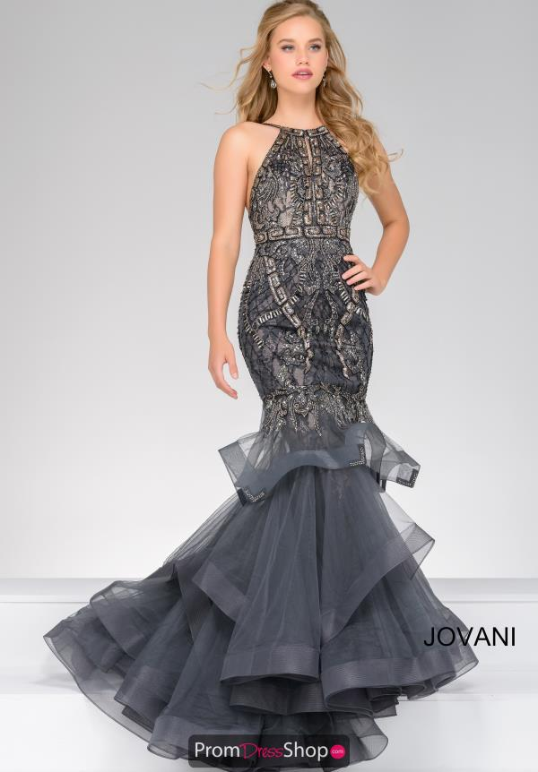 Long Beaded Jovani Dress 31554