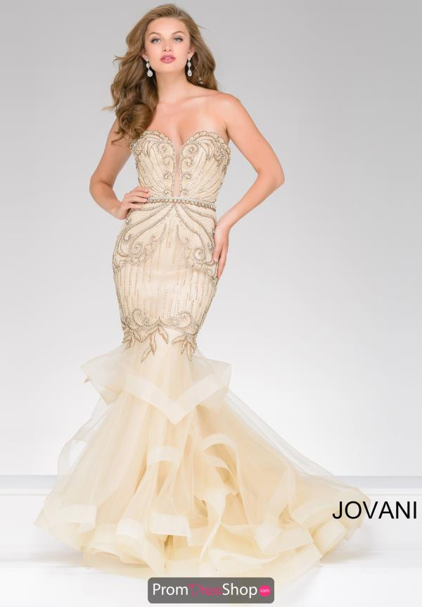 Strapless Fitted Jovani Dress 36984