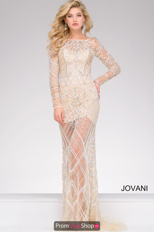 Jovani Long Beaded Dress 39193