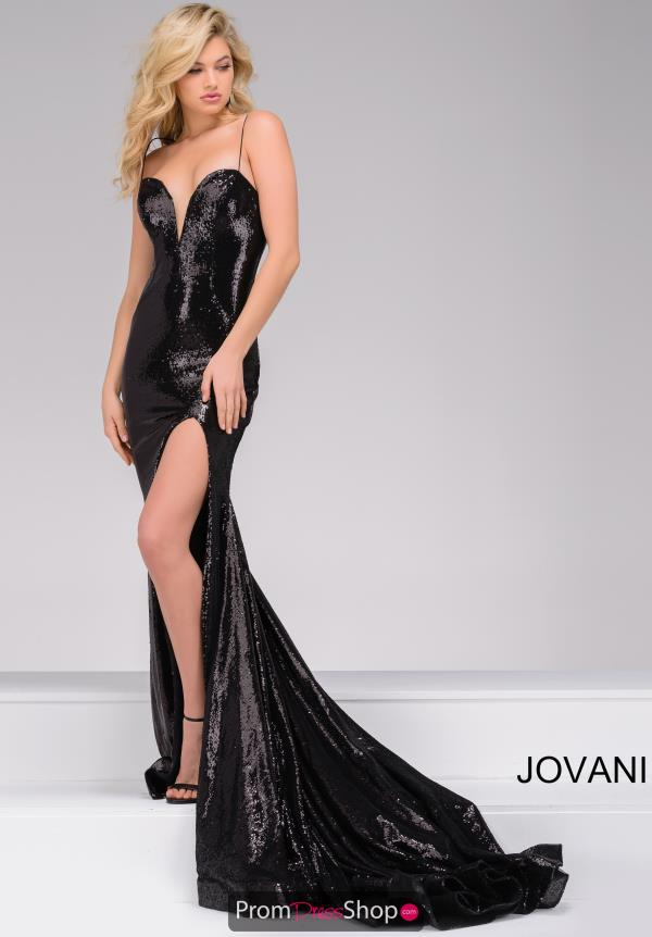 Long Sexy Black Jovani Dress 40436