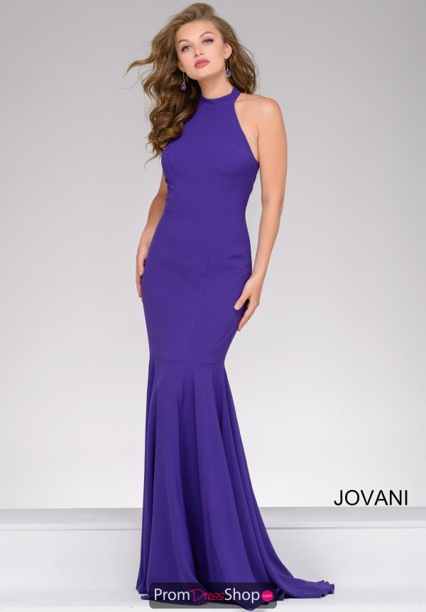 Halter Top Fitted Jovani Dress 41077