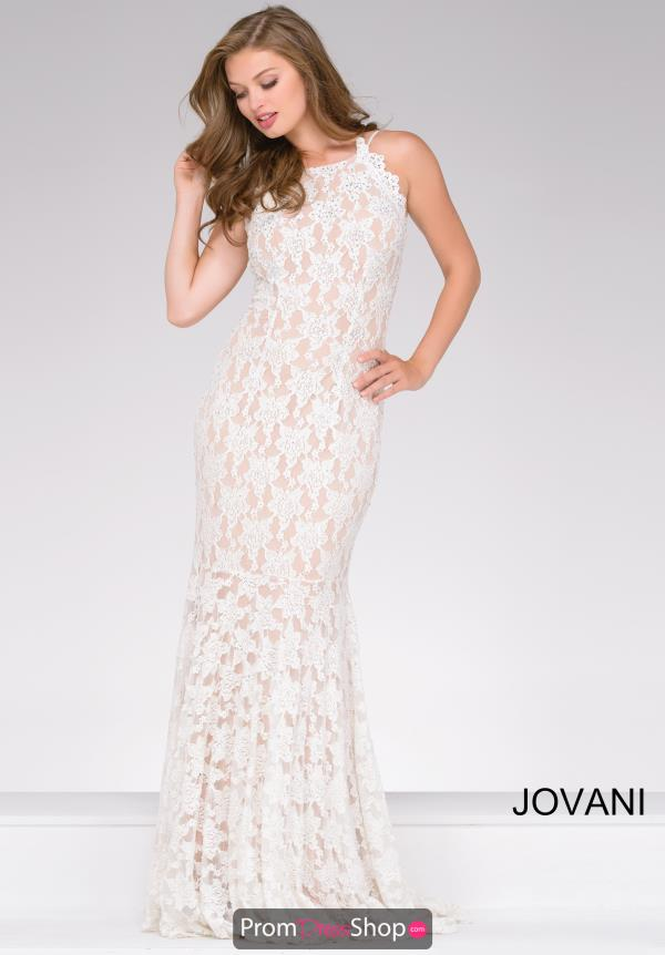 High Neckline Fitted Jovani Dress 41269