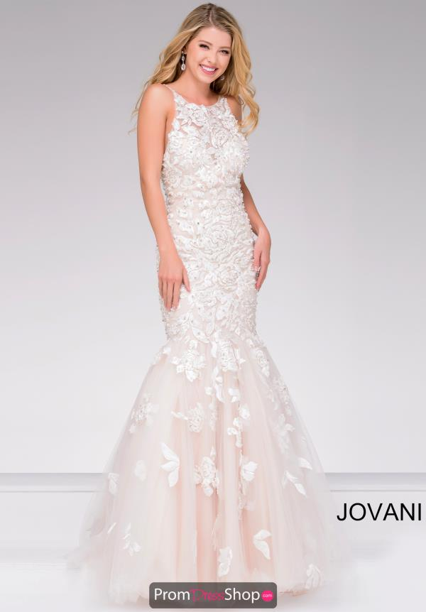 Jovani High Neckline Fitted Dress 45745