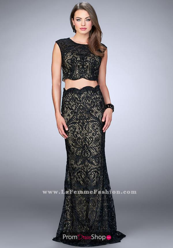 Gigig 23766 Lace Two Piece Dress