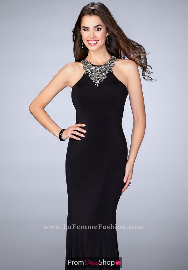 Gigi 23850 Long Jersey Dress
