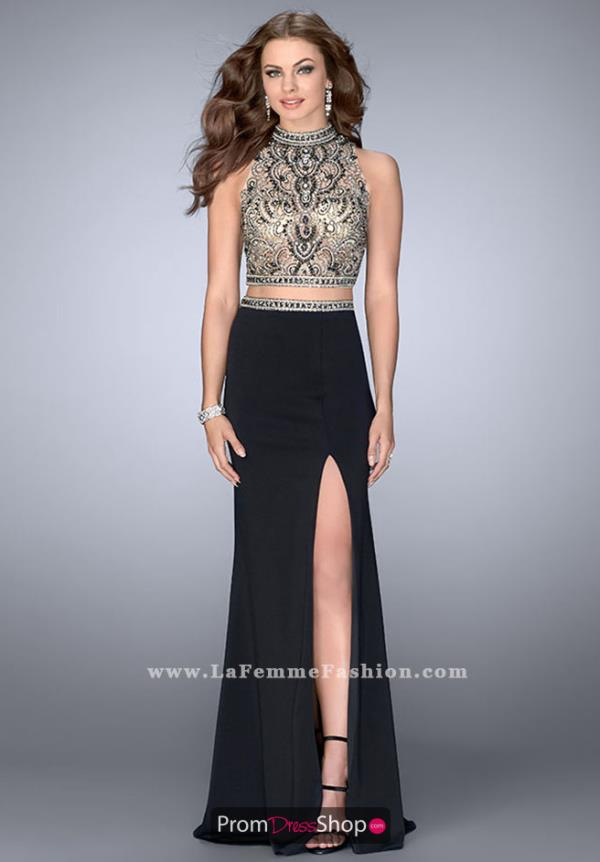 Gigi Fitted Black Beaded Dress 24390