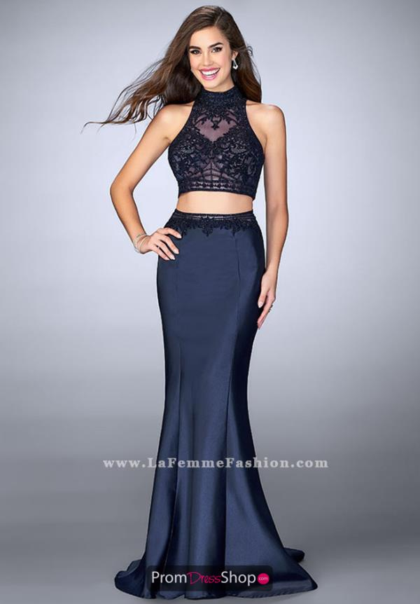 Gigi Fitted Navy Applique Dress 24408