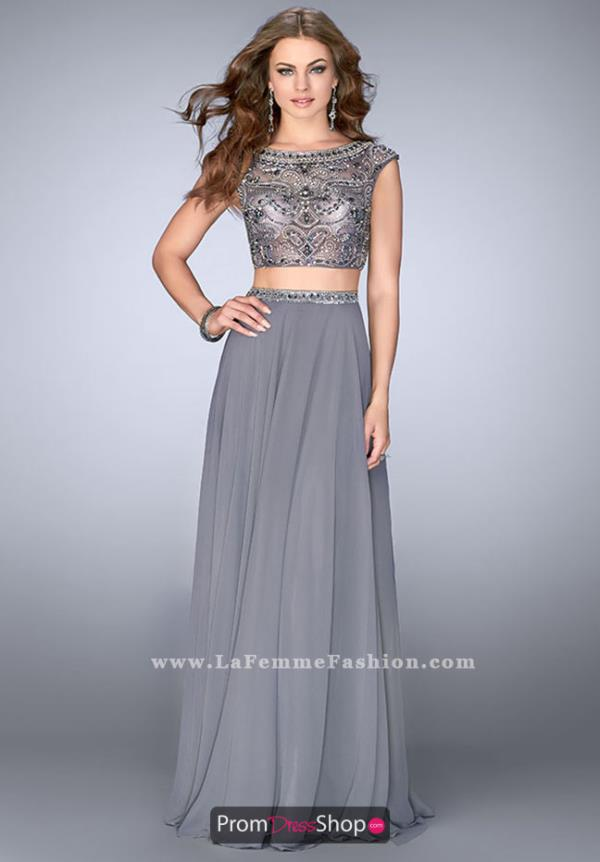 Gigi Gunmetal Two Piece Dress 24493