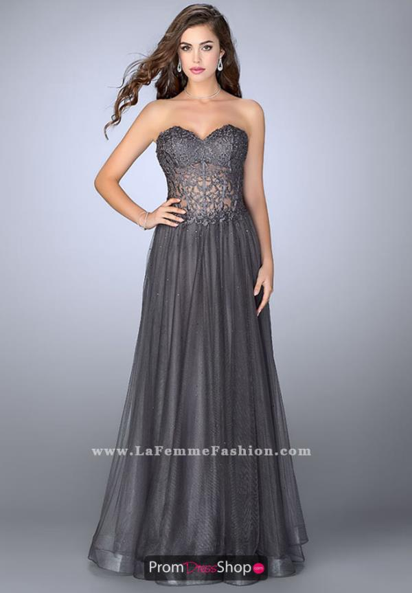 La Femme Sweetheart Neckline Long Dress 22964