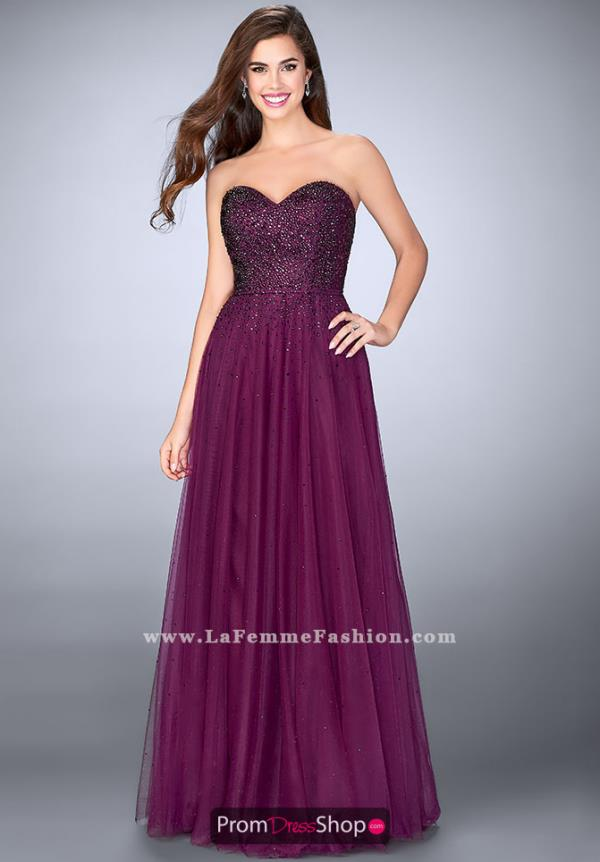 La Femme Long A Line Dress 23228