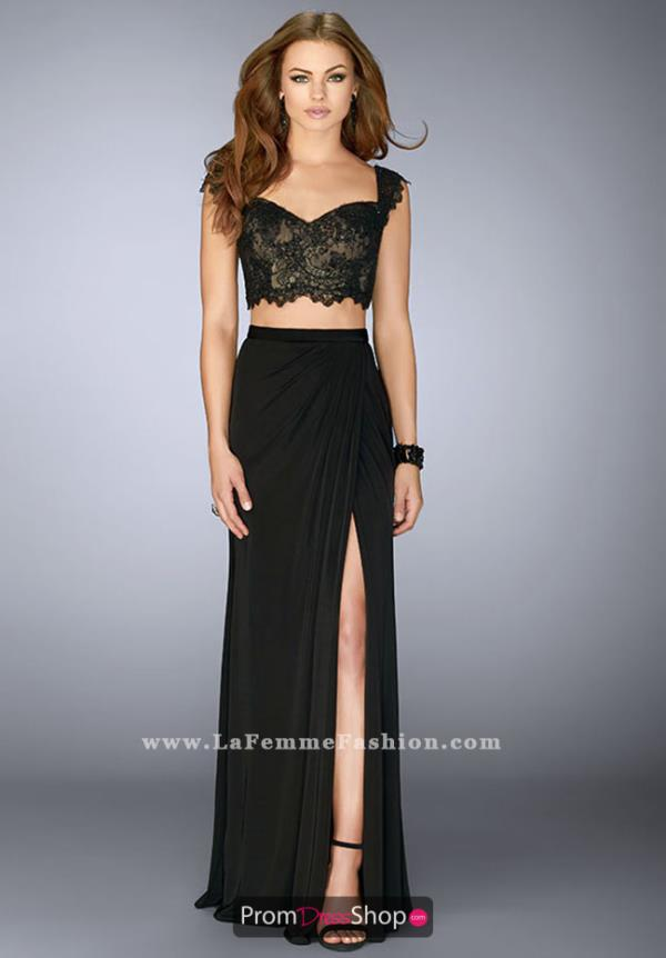 La Femme Two Piece Jersey Dress 23563