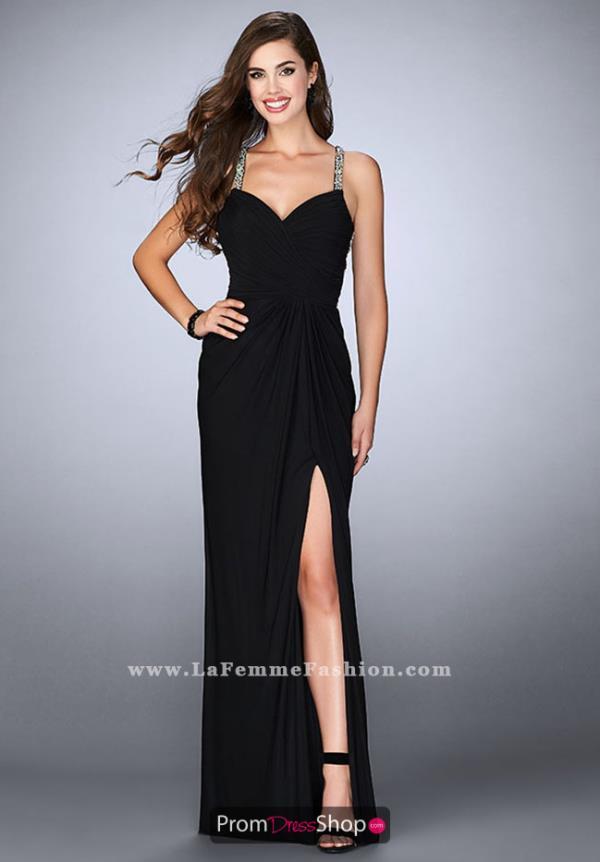 La Femme Fitted Sexy Dress 23636