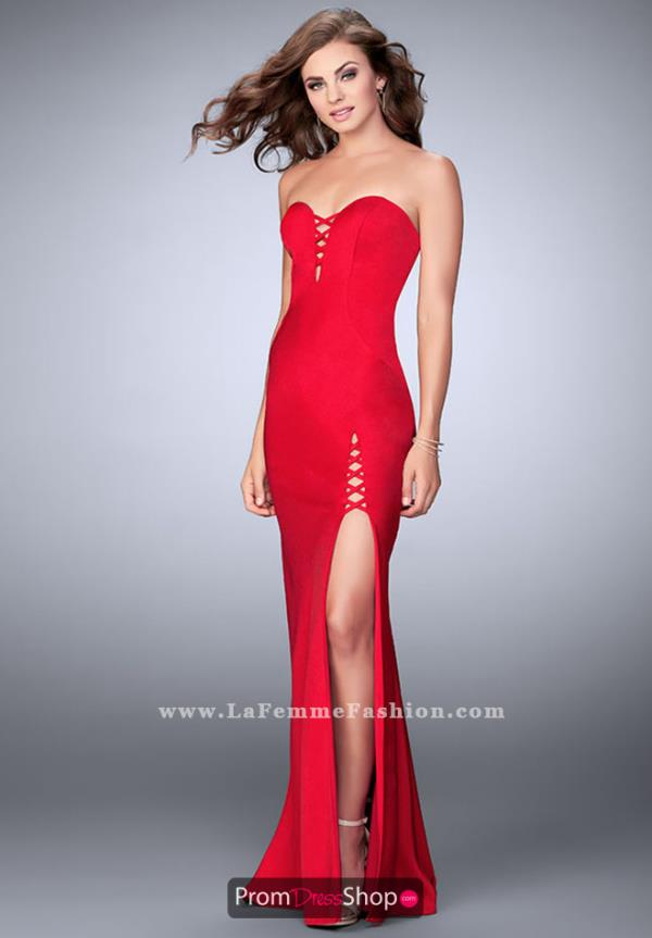 Open Back Jersey La Femme Dress 23650