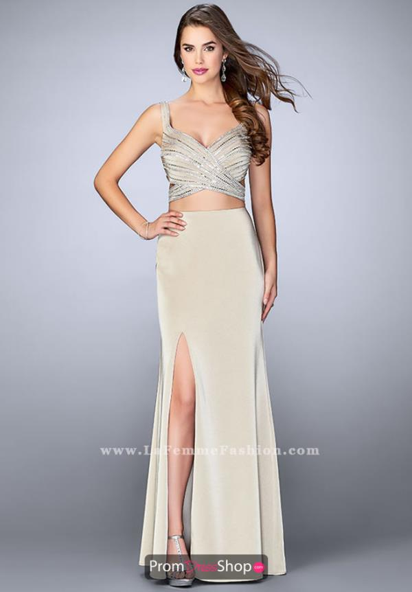 Sweetheart Beaded La Femme Dress 23653