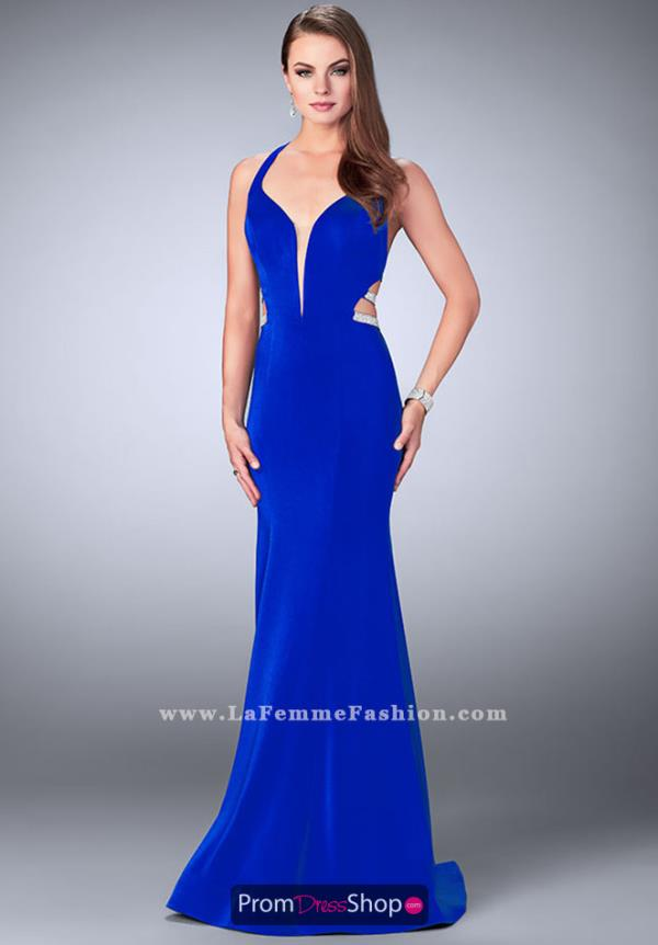 La Femme Jersey Long Dress 23755