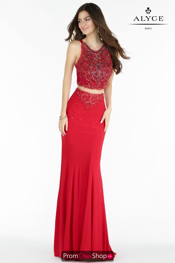 Alyce Paris Long Beaded Dress 6709