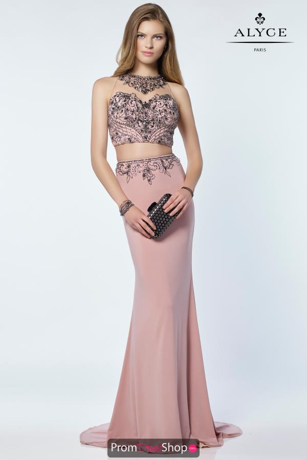 Alyce Paris Beaded Fitted Dress 6713