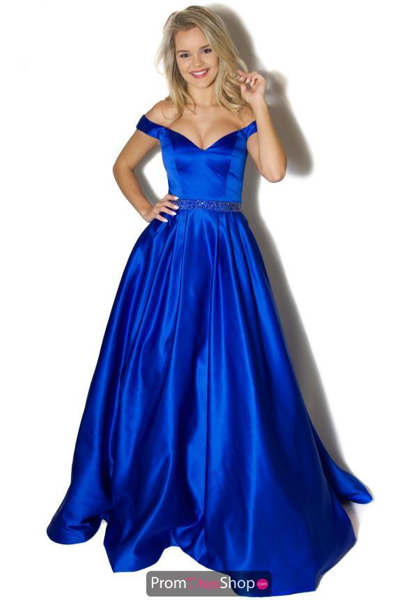 Blue Dresses at Prom Dress Shop.