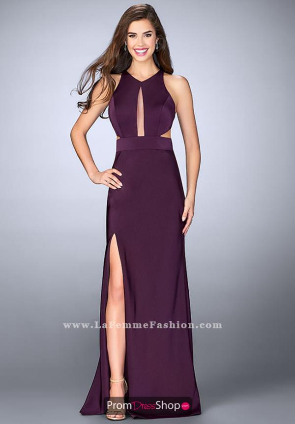 Halter Long La Femme Dress 23655