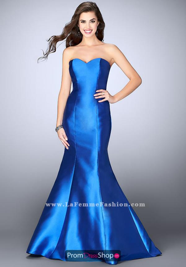 La Femme Sweetheart Long Dress 23916