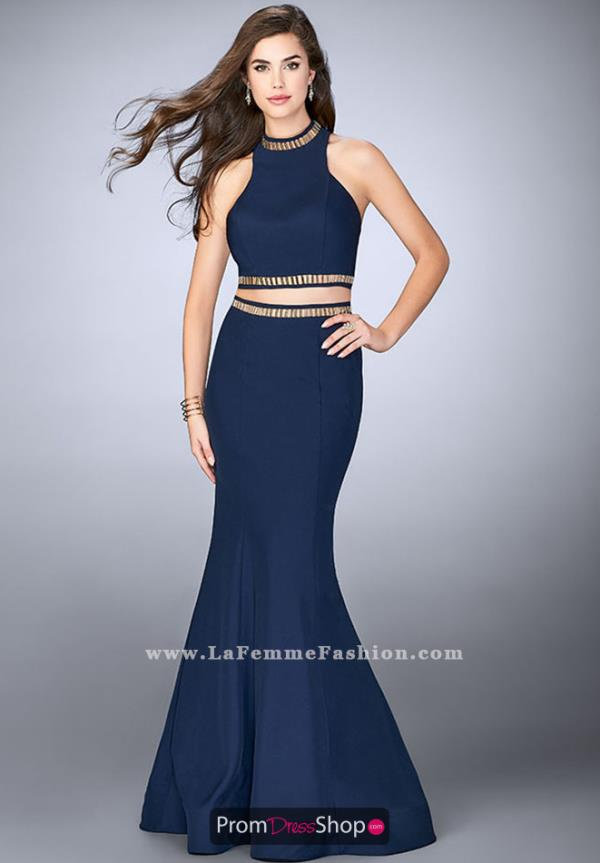 La Femme Long Mermaid Dress 23932