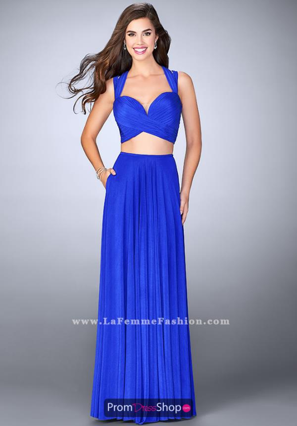 La Femme Sweetheart Two Piece Dress 23940