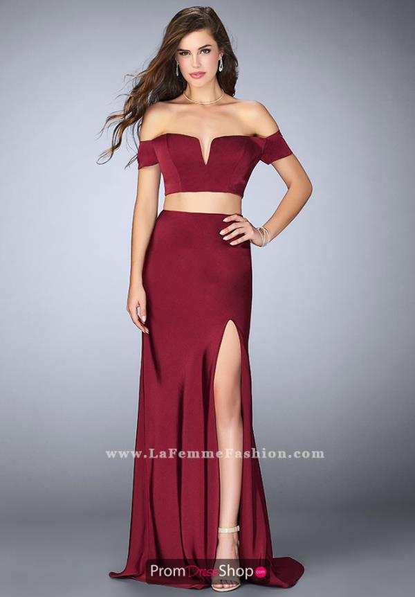 La Femme Off the Shoulder Long Dress 23963