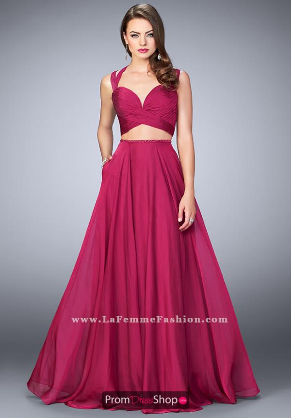 La Femme Two Piece Sexy Back Dress 23979