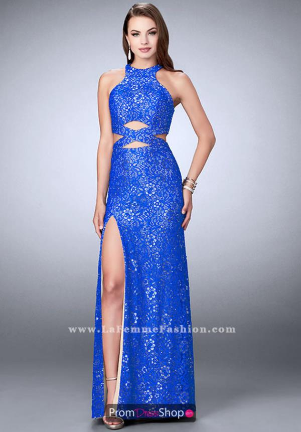 La Femme Halter Long Dress 23999
