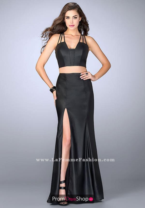 La Femme Fitted Long Dress 24080