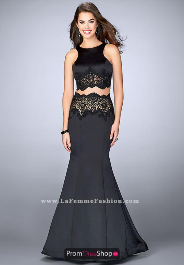 La Femme Two Piece Mermaid Dress 24083