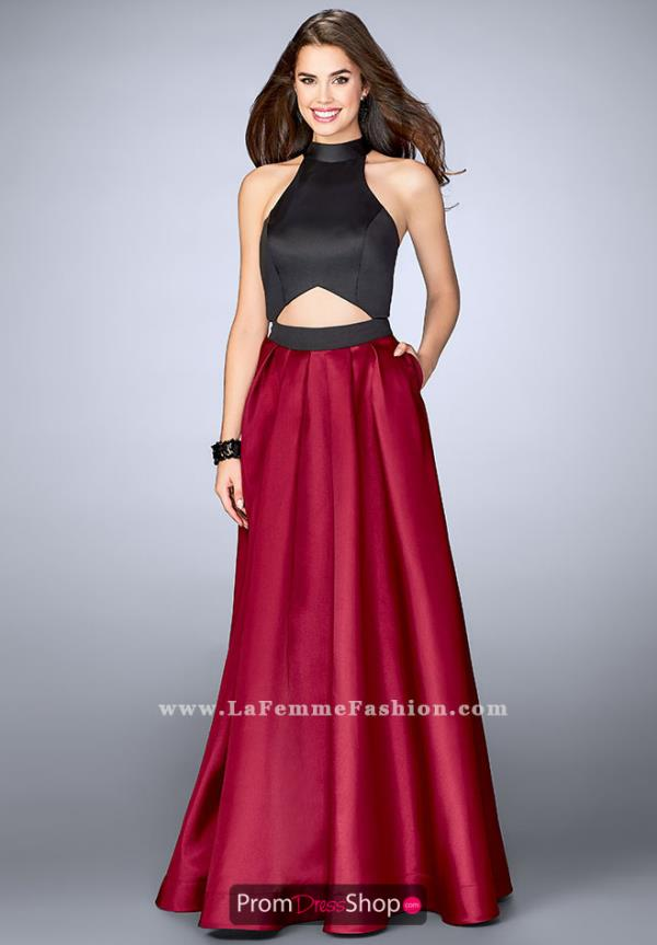 La Femme Long A Line Dress 24135
