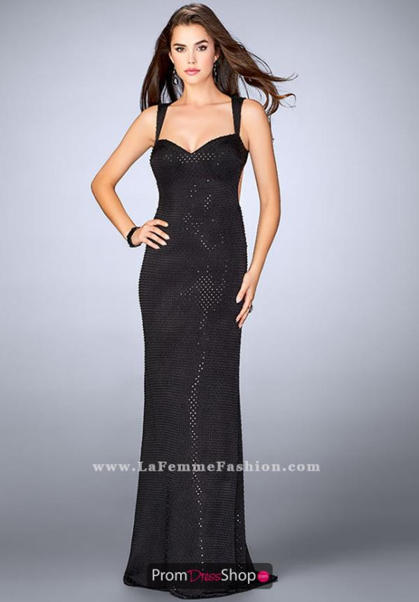 La Femme Sweetheart Fitted Dress 24167
