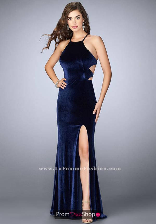 La Femme Sexy Back Long Dress 24218