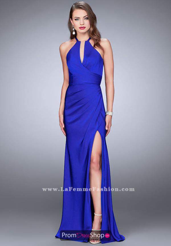 La Femme Beaded Jersey Dress 24225