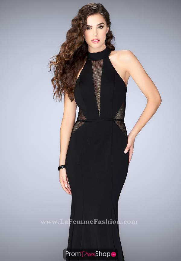 La Femme Sexy Back Fitted Dress 24261