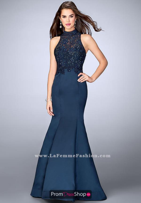 La Femme Lace Mermaid Dress 24271