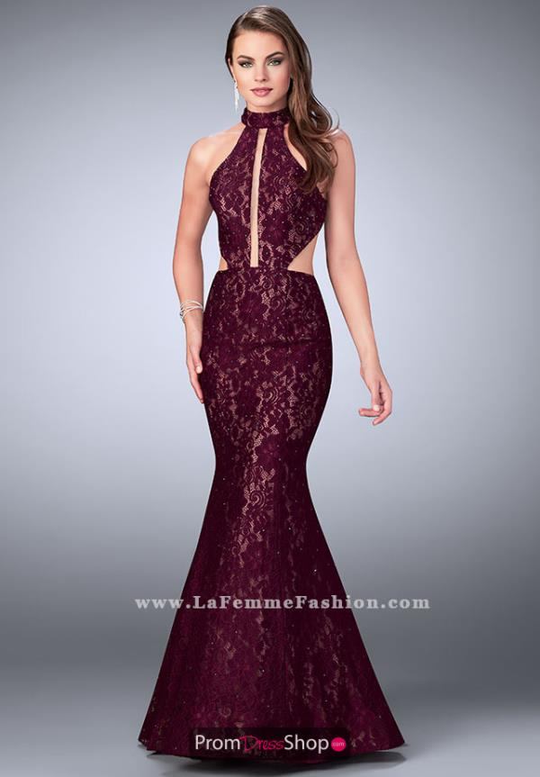 La Femme Open Back Mermaid Dress 24303
