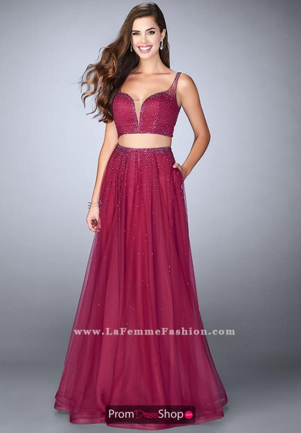 La Femme Sexy Two Piece Dress 24304