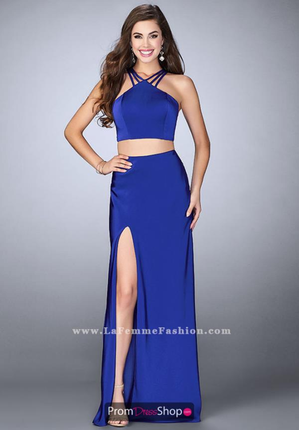 La Femme Fitted Sexy Back Dress 24324