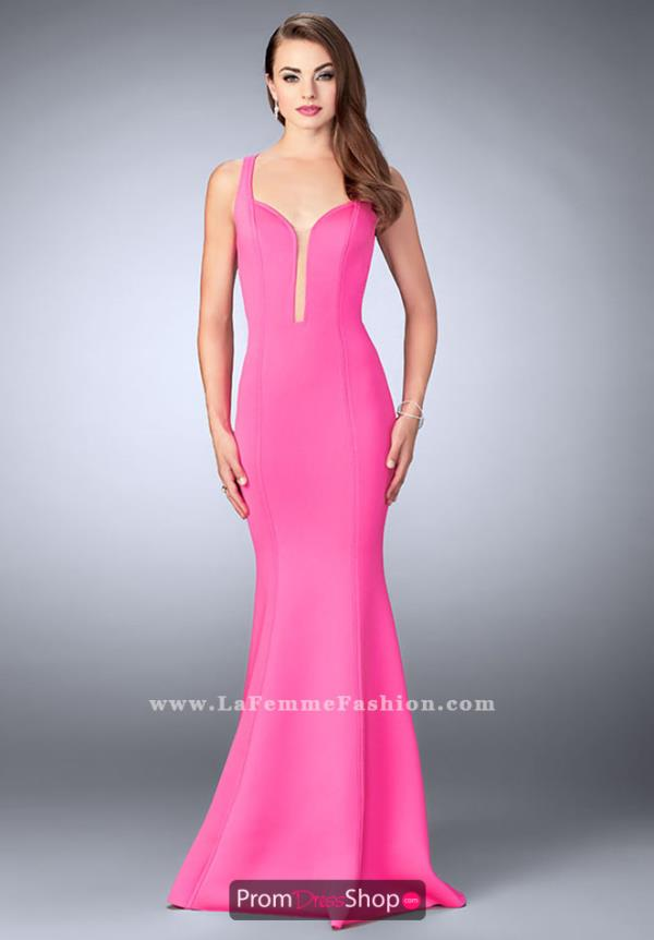 La Femme Neoprene Fitted Dress 24360