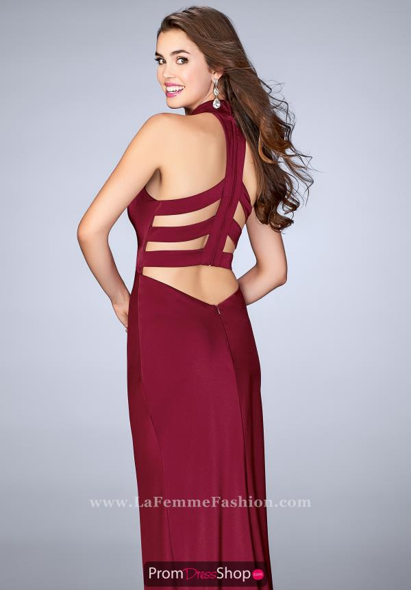 La Femme Jersey Fitted Dress 24376