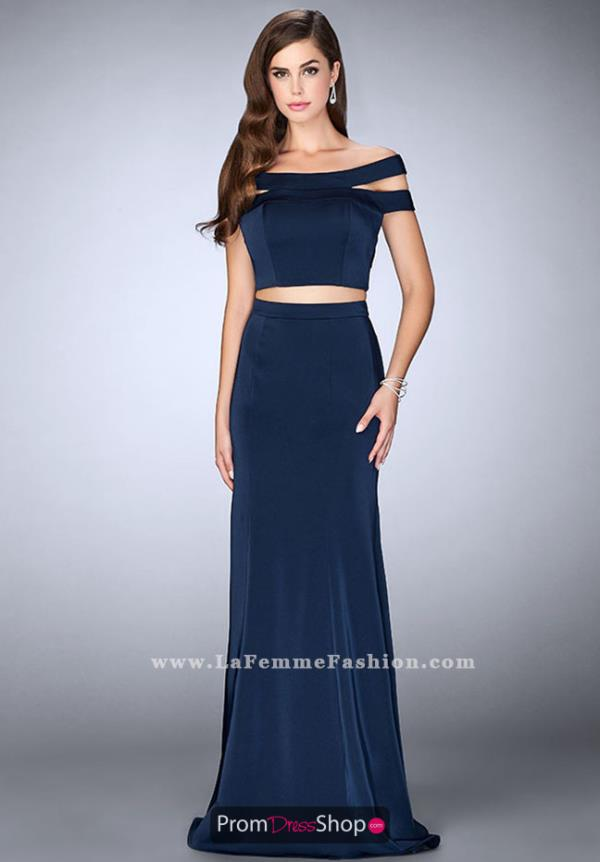 La Femme Fitted Two Piece Dress 24520